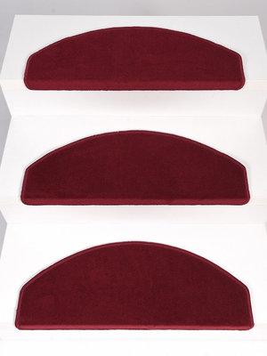 Trappentapijt Set 15 stuks Rosanna rood velours