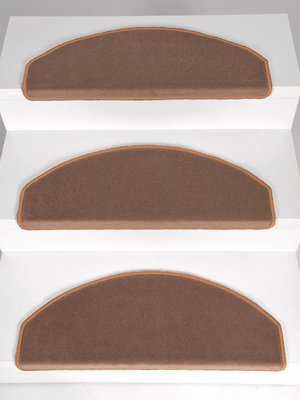 Trapbekleding Set 15 stuks Rosanna donker beige velours