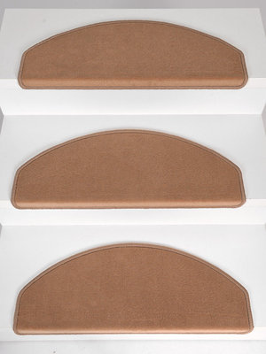 Trapmatten Set 15 stuks Rosanna licht beige velours