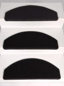 Trapmaantjes Set 15 stuks Rosanna zwart velours
