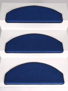 Trapmaantjes Set 15 stuks Rosanna blauw velours